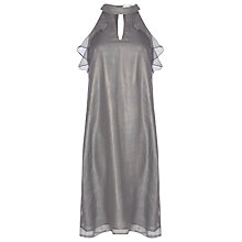 Buy True Decadence Ruffle Sleeveless Dress, Light Grey Online at johnlewis.com