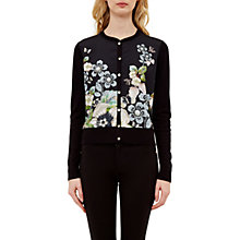 Buy Ted Baker Teelie Gem Gardens Cardigan, Black Online at johnlewis.com