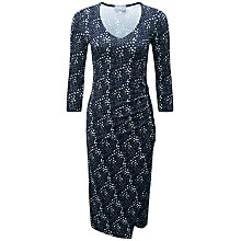 Buy Pure Collection Fewston Wrap Dress, Brushed Spot Print Online at johnlewis.com