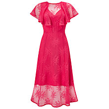 Buy Miss Selfridge Angel Sleeve Midi Dress, Pink Online at johnlewis.com