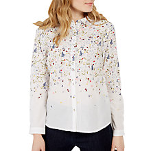 Buy White Stuff Drifting Embellished Shirt, White Online at johnlewis.com