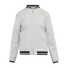 Buy Ted Baker Colour By Numbers Otilie Fish Print Bomber Jacket, Grey Online at johnlewis.com