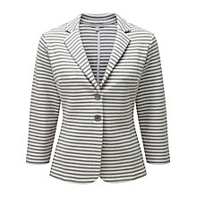 Buy Pure Collection Dawson Jersey Blazer, Grey Stripe Online at johnlewis.com