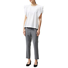 Buy Selected Femme Palma Ruffle Sleeve Top, White Online at johnlewis.com