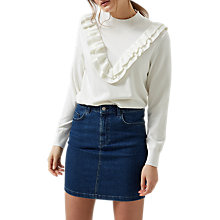 Buy Selected Femme Addi Ruffle Front Jumper, Snow White Online at johnlewis.com