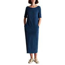 Buy Toast Noelle II Midi Dress, Washed Indigo Online at johnlewis.com
