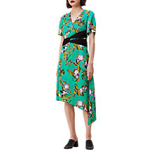 Buy Finery Arcot Contrast Belt Vine Print Dress, Multi Online at johnlewis.com