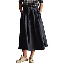 Buy Toast Cotton Linen Twill Skirt, Blue Slate Online at johnlewis.com