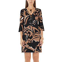 Buy Marc Cain African Print Dress, Black/Brown Online at johnlewis.com