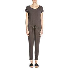 Buy Oui Cotton Jersey Jumpsuit, Dark Brown Online at johnlewis.com