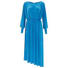 Buy Finery Bonneville Drawcord Ruched Jersey Dress, Mid Blue Online at johnlewis.com