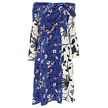 Buy Finery Casella Off Shoulder Virginia Bellflower Print Dress, Multi Online at johnlewis.com