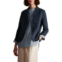 Buy Toast Cotton Linen Twill Blazer, Dark Navy Online at johnlewis.com