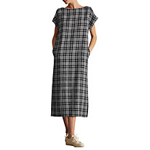 Buy Toast Check Linen Dress, Navy/Off White Online at johnlewis.com