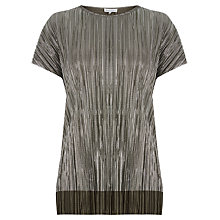Buy Warehouse Plisse T-Shirt Online at johnlewis.com