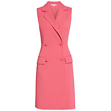 Buy Gina Bacconi Crepe Double Breasted Coat Dress, Coral Red Online at johnlewis.com