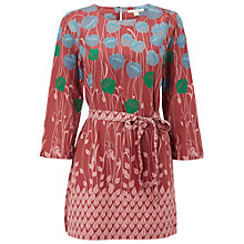 Buy White Stuff Embrace Tunic Top, Clay Red Online at johnlewis.com
