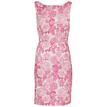 Buy Gina Bacconi Tonal Matelasse Floral Jacquard Dress, Pink Brocade Online at johnlewis.com