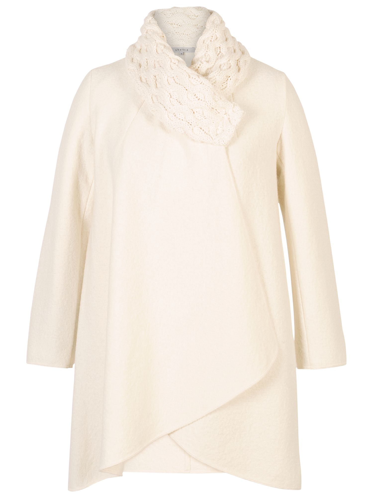 Chesca Chesca Aran Collar Coat
