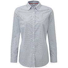 Buy Pure Collection Beatrice Cotton Shirt, Navy Spot Online at johnlewis.com