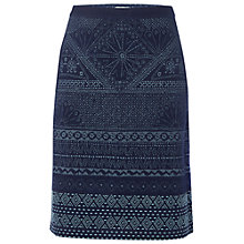 Buy White Stuff Poetry Print Denim Skirt, Denim Online at johnlewis.com