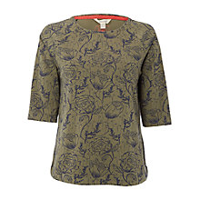 Buy White Stuff Early Blooms T-Shirt, Haw Green Online at johnlewis.com