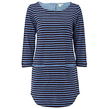 Buy White Stuff Stripe Jersey Tunic, Navy Online at johnlewis.com