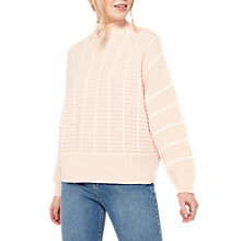 Buy Miss Selfridge Chunky Funnel Neck Jumper, Pink Online at johnlewis.com