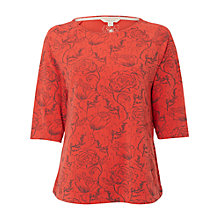 Buy White Stuff Early Blooms T-Shirt, Spring Red Online at johnlewis.com