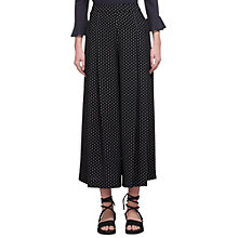 Buy Whistles Amena Pleated Front Trousers, Black Online at johnlewis.com