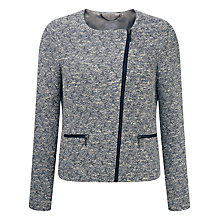 Buy Pure Collection Textured Biker Jacket Online at johnlewis.com