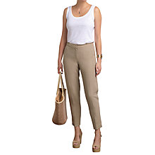 Buy Pure Collection Silk Linen Trousers Online at johnlewis.com