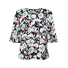 Buy Miss Selfridge Printed Ruffle T-Shirt, Multi Online at johnlewis.com