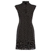 Buy Karen Millen Polka Dot Dress, Black/White Online at johnlewis.com