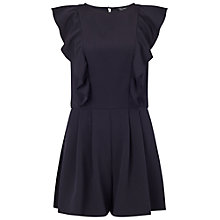 Buy Miss Selfridge Ruffle Detail Playsuit, Black Online at johnlewis.com