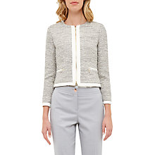 Buy Ted Baker Cropped Sparkle Boucle Jacket, Ivory Online at johnlewis.com