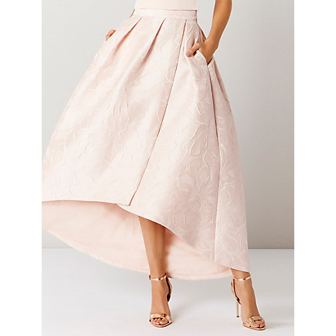 buy coast floral jacquard hi low skirt lewis