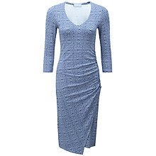 Buy Pure Collection V-Neck Wrap Dress, Cobalt Geo Print Online at johnlewis.com