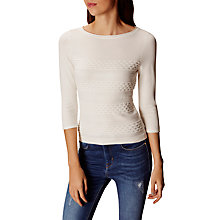 Buy Karen Millen Dot Block Stripe Jumper, Ivory Online at johnlewis.com
