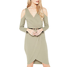 Buy Miss Selfridge Cold Shoulder Wrap Dress Online at johnlewis.com