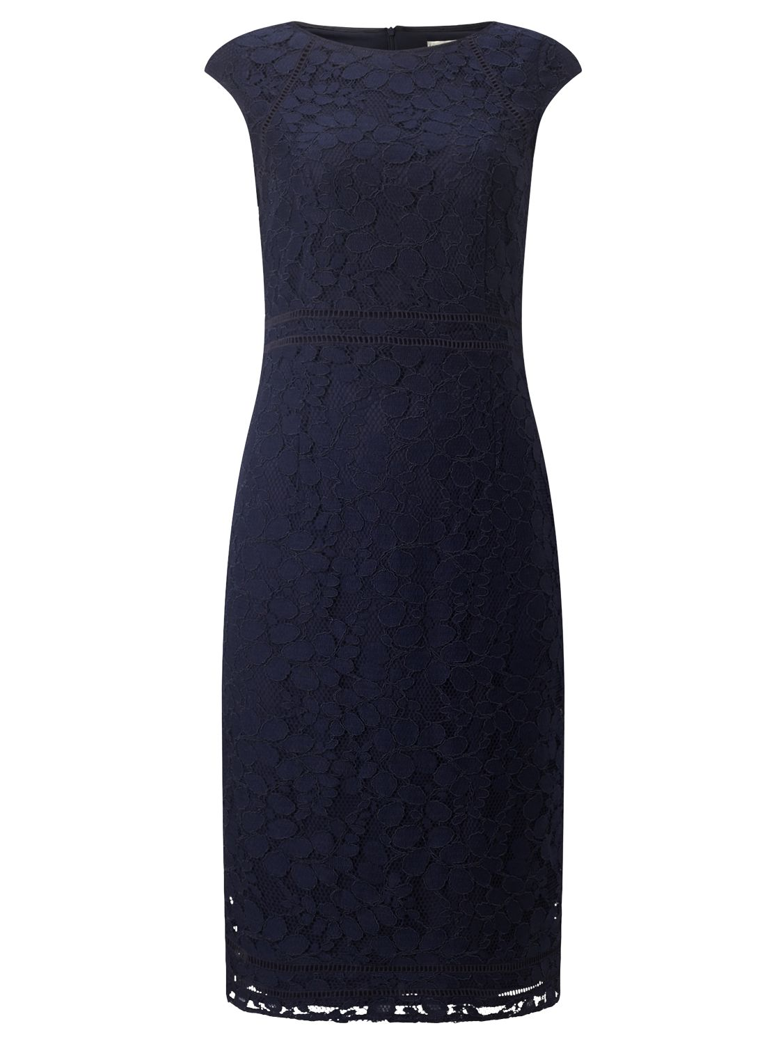 Jacques Vert Jacques Vert Fitted Lace Dress, Blue