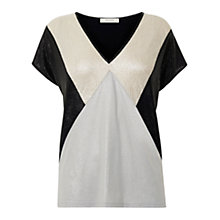 Buy Oasis Crinkle Colour Block T-Shirt, Multi Online at johnlewis.com