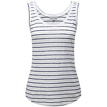 Buy Pure Collection Fine Stripe Luxury Linen Vest Top, Navy/White Stripe Online at johnlewis.com