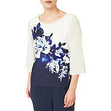 Buy Jacques Vert Contrast Print Top, Multi/Navy Online at johnlewis.com