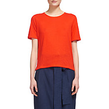 Buy Whistles Pom Pom Trim Linen T-Shirt Online at johnlewis.com