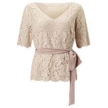 Buy Jacques Vert Delicate Lace Top, Mid Neutral Online at johnlewis.com