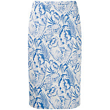 Buy Pure Collection Palm Pencil Skirt, Blue/White Online at johnlewis.com