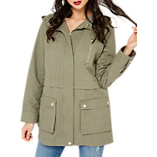 Buy Miss Selfridge Lightweight Parka Jacket, Khaki Online at johnlewis.com