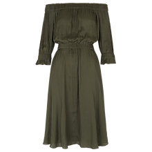 Buy Whistles Penelope Off The Shoulder Dress, Khaki Online at johnlewis.com