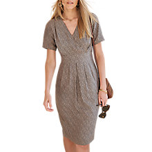 Buy Pure Collection Silk Wrap Dress, Charcoal Animal Print Online at johnlewis.com